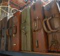 Leather suitcase props